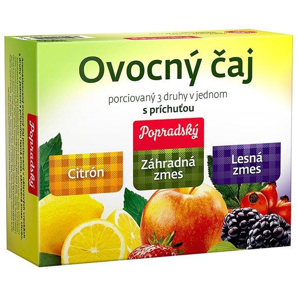 1ks POPRADSKÝ čaj ovocný 3 druhy v jednom