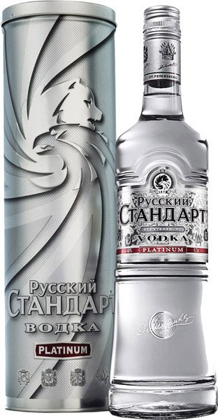Russian Standard Platinum vodka 40 % tuba