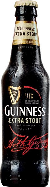 GUINNESS BEER STOUT DRAUGHT pivo tmavé 0,33l sklo