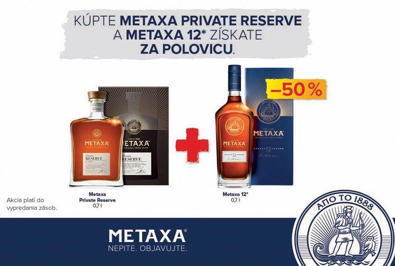 METAXA Private + 12* balík 40% darčekové balenie