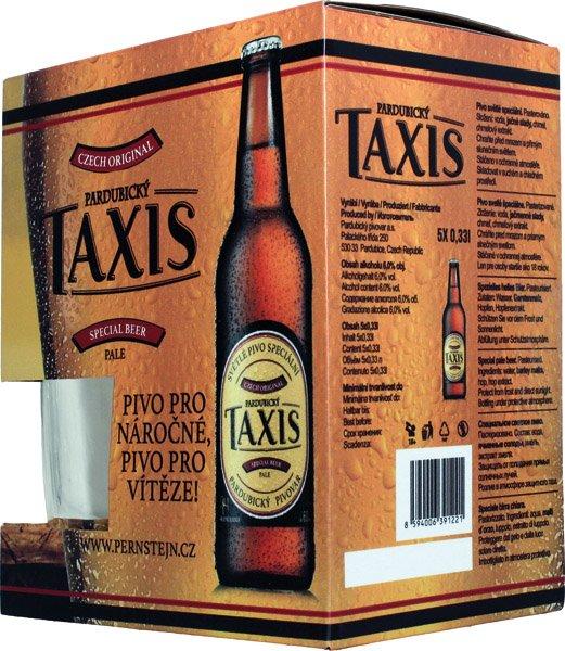 PERNŠTEJN TAXIS pivo svetlé špec.14°5pack+pohár