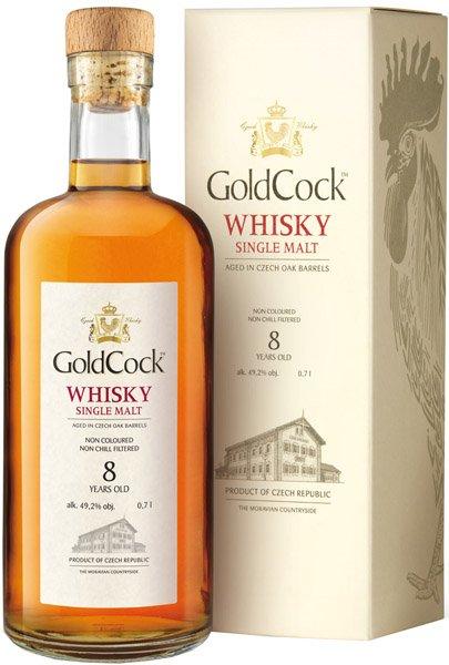 GOLD COCK 8y whisky 49,2% darčekové balenie