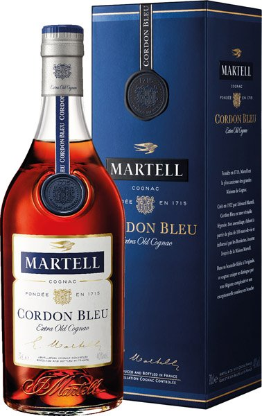 MARTELL CORDON BLEU cognac 40% darčekové balenie