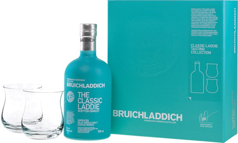 BRUICHLADDICH CLASSIC LADDIE whisky 50% + 2poháre