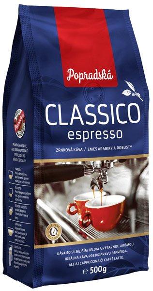 POPRADSKÁ káva Classico espresso zrnková