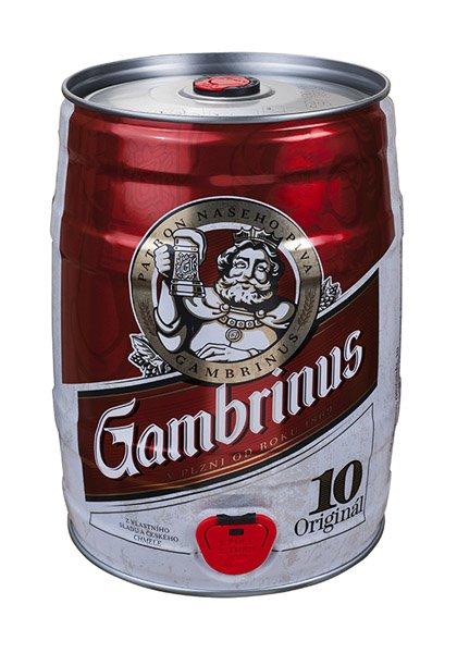 GAMBRINUS pivo svetlé výčapné 10% súdok