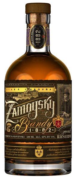 ZAMOYSKY brandy 40% darčekové balenie
