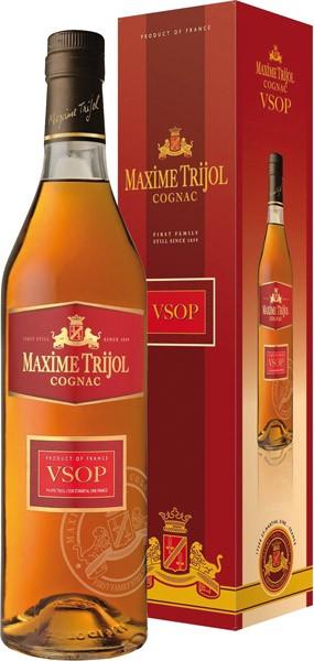 MAXIME TRIJOL VSOP cognac 40% darčekové balenie