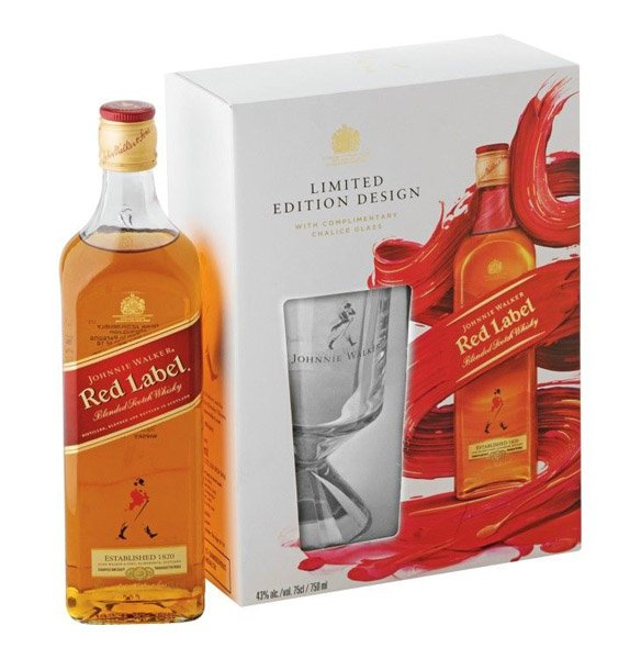 Johnnie Walker Red Label Whisky 40% + pohár
