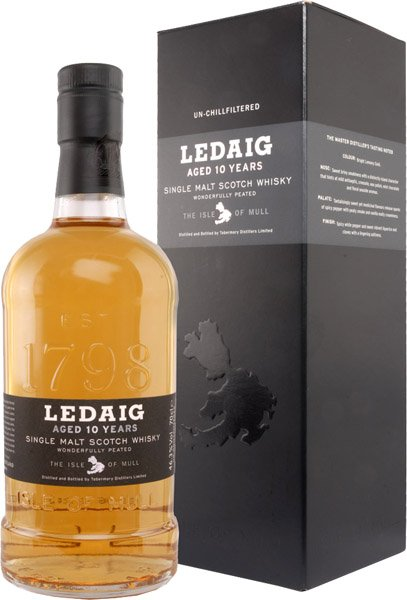 LEDAIG 10y whisky 46,3% darčekové balenie
