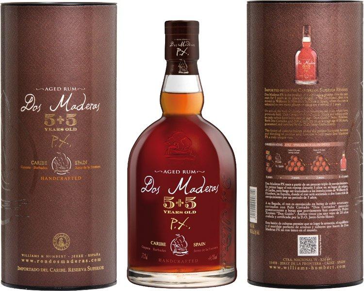 DOS MADERAS PX 5y + 5y rum 40% darčekové balenie 0.7l