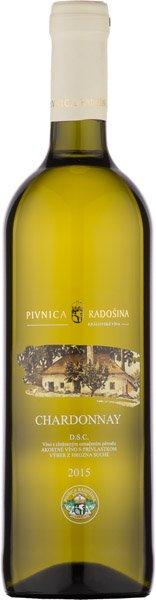Pivnica Radošina Chardonnay výber z hrozna 2015 0.75l