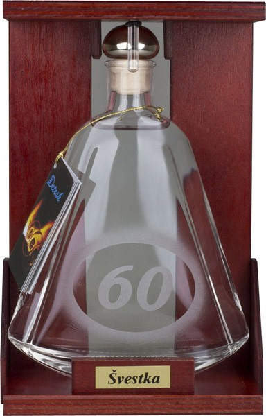 Slivka liehovina 40% fľaša s číslom 60