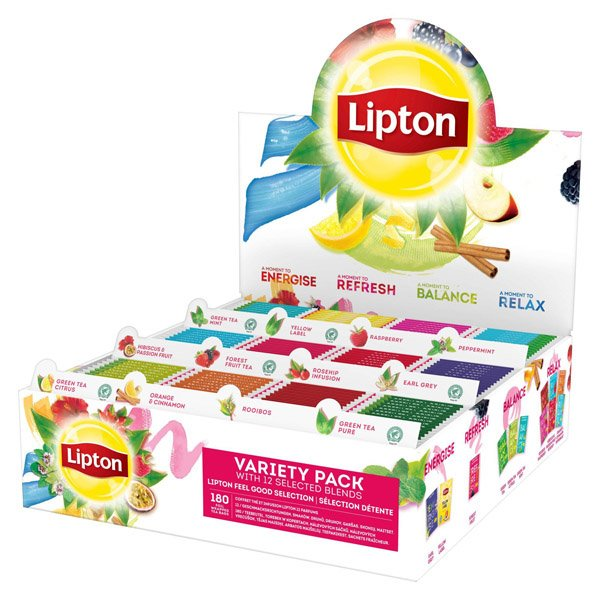 1ks Čaj LIPTON 180ks viking mix box HB