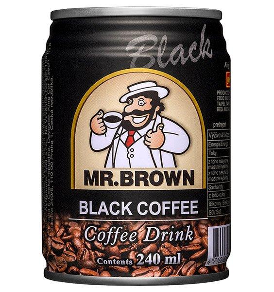 1ks MR.BROWN black ľadová káva, plech