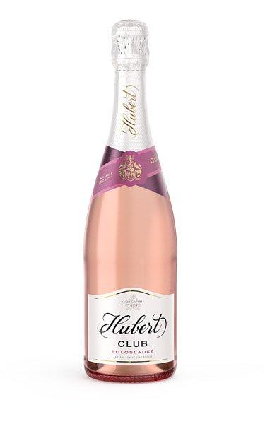 HUBERT Club ružové, polosladké