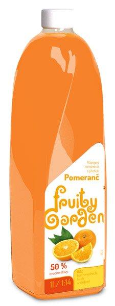 Koncentrát Fruity Garden Pomaranč 1l 50%