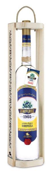 JUNIPERUS borovička slovenská 40% v drevenom obale