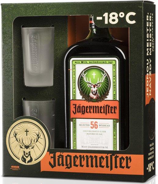 Jägermeister 35% + 2 poháre