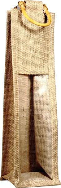 Jutová taška na 1 víno