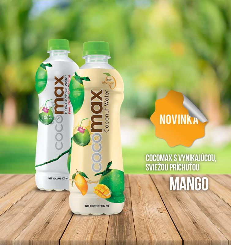 COCOMAX kokosová voda mango